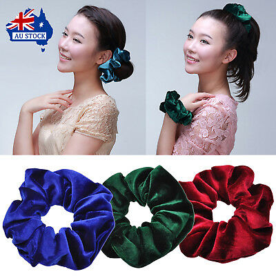 Solid Lady Hair Scrunchies Ring Elastic Hair Bands Pure Color Ponytail Tie Dance
