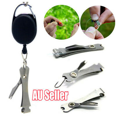 Knot Fly Tool Fishing Clippers Quick Line Nippers Cutter Snip Zinger Retractor M