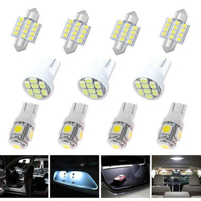 14*Car T10 LED Light Interior Bulb Package Kit For Map Dome License Plate Lights