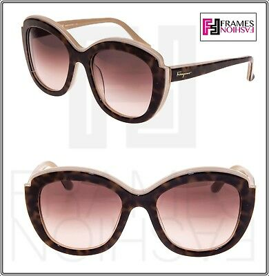 2d477e8899 SALVATORE FERRAGAMO Havana Beige Brown SF 726S Oval Gradient Sunglasses