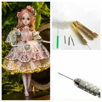 Doll 30ml Hair Rooting Glue Reroot Rehair Tool Holder+5 Extra Needles For Barbie