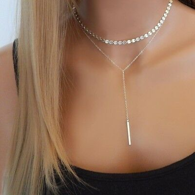 Fashion Women Lady Alloy Clavicle Choker Necklace CharmChain Gift Jewelry 1Pc