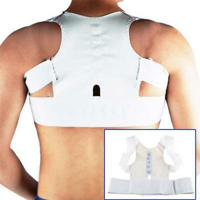 Magnetic Therapy Posture Corrector Body Back Pain Belt Brace Shoulder EH