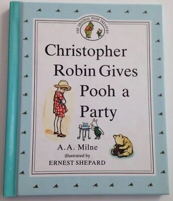 Christopher Robin Gives Pooh a Party (1990, Hardcover, BP Book Edition)