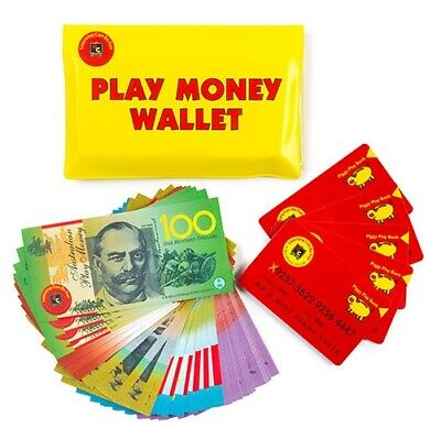 EC Australian Play Money Notes 100p Wallet + Cards Teacher Resource Realistic