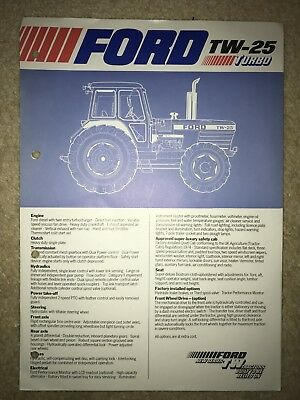 Ford TW Tractor Specification Brochure