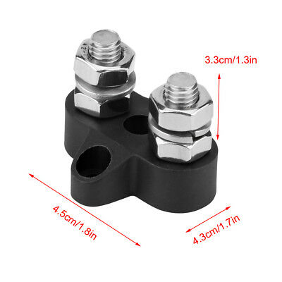 5 Nylon Black / Red Junction Block Power Post Insulated Terminal Stud M8 DC 48V