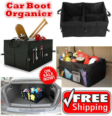 New Collapsible Car Boot Organiser Foldable Shopping Tidy Car Boot Storage