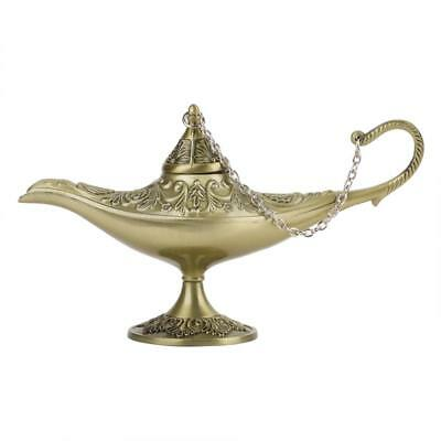 3D Aladdin Magic Genie Light OiL Lamp Pot Legend Light Stunning Decor Bronze