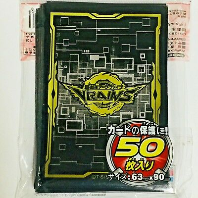 Yugioh Card Protector Vrains Black 50 Sleeve 63 x 90 mm