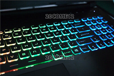 NEW For MSI GE72VR 6RF Apache Pro keyboard US Color Backlit Crystal