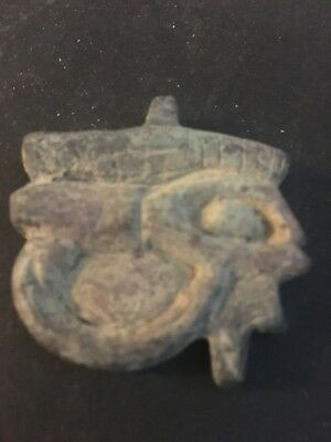 Rare Ancient Egyptian Horus Eye Amulet 26th DYN 680 Bc