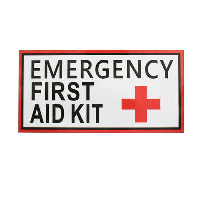 2/6pcs Emergency First Aid Vinyl Sticker Label Signs Red Cross Health 50*100mm