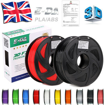 E-DA 3D Printer Filament PLA/ABS - 1.75mm -Roll-1KG Net Weight - Various Colours