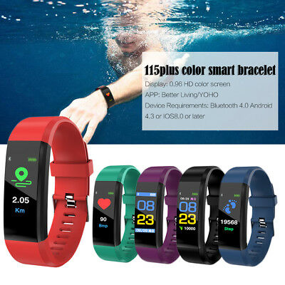 For Fitness Smart Watch Activity Tracker Men Kids Fitbit Android iOS Heart Rat