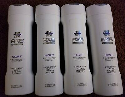 AXE Night 2 in 1 Shampoo and Conditioner Night 12 oz White Label Night 12 Ounce