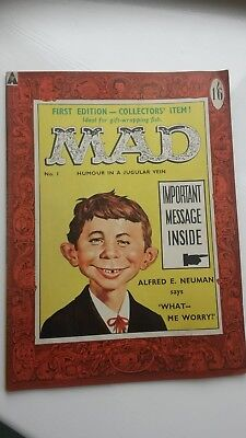 Mad Magazine No 1. UK edn. Scarce first issue. Amazing opportunity to obtain.