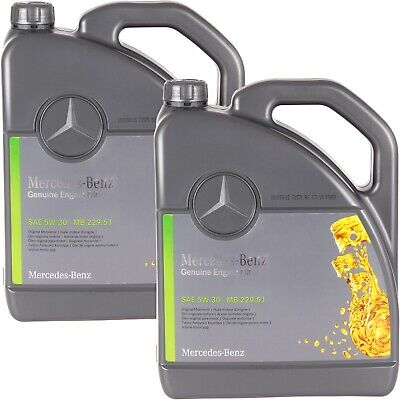 10 Liter Original Mercedes Synthetic Motoröl Ölwechsel 5w30 MB 229.51 A000989701