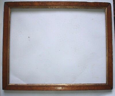 ANTIQUE PICTURE FRAME MAPLE VENEER over PINE with fillet