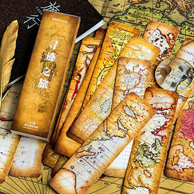 30pcs Tracing Tour Vintage Retro Paper Book Mark Bookmark Book Label Gifts