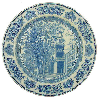 WEDGWOOD china YALE UNIVERSITY Blue pattern Dinner Plate OLD CHAPEL - 10-5/8""
