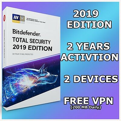 Bitdefender Total Security 2019 - 2 Years Activation 2 Devices - Download