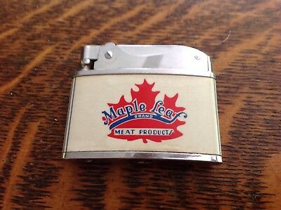 Maple Leaf Meat Products, Vintage Made By Margo Cigarette Lighter