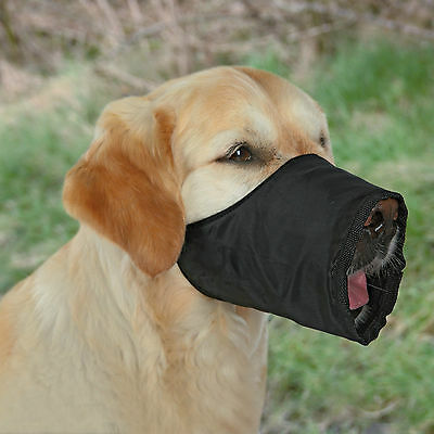 Black Dog Muzzle with Fleece Lining for Large to Extra Large Dogs L-XL
