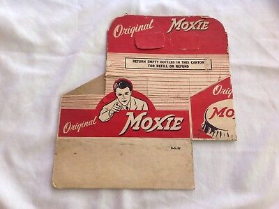 1949 Moxie Six Pack Cardboard Carrier