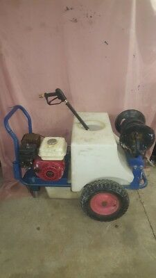 Mini Bowser Pressure Washer 125L (used) with Honda GX200 engine lance and hose
