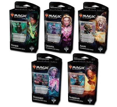 Magic 2019 Hauptset Planeswalker-Decks 5er Set (DE)