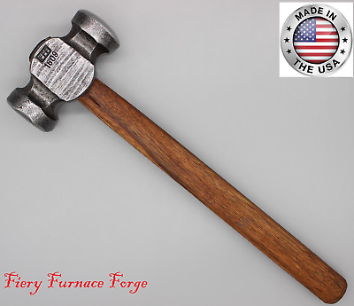NEW Hand-Forged, Blacksmiths Rounding Hammer, 3.5 pound by FIERY FURNACE ~ stock