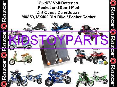 24 Volt Razor MX350 & MX400 Dirt Bike Quad Pocket Rocket Mod Battery Pack