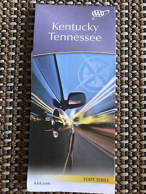 AAA KENTUCKY & TENNESSEE Travel Road Map US State Series Roadmap 2017-2019