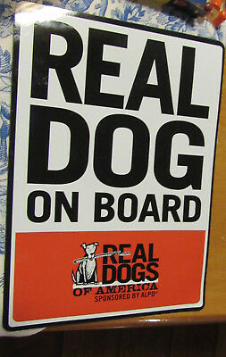 "Promotional Alpo Dog Food Magnet: Real Dog On Board.... 5"" X 7"""