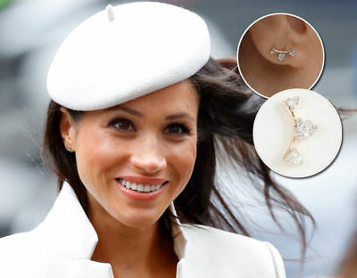 Adina Reyter 14k Diamond Amigos Curve Earrings As Seen On Meghan Markle Sold Out