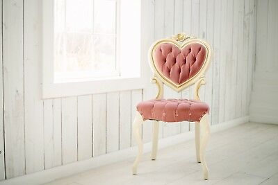 Hollywood Regency Tufted Velvet Heart Shaped Style Accent Chair Vintage