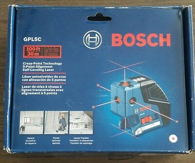 Bosch GPL5C 5-Point  Alignment Self Leveling Laser + Cross Point Technology