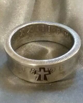 Catholic RING Baptismal Ring 1960 Vatican 100 Lire Pope John Ring