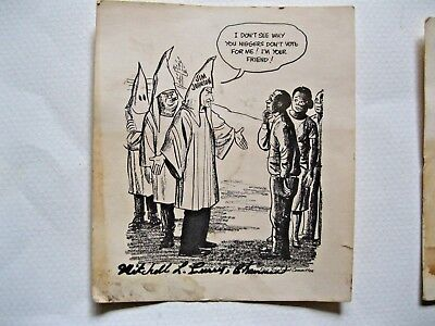 UNUSUAL LOT of 4 VINTAGE BLACK/AFRICAN AMERICAN RACIST CARDS POSSIBLY SIGNED
