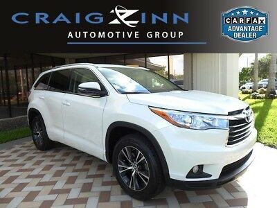 2016 Toyota Highlander XLE V6 Toyota Highlander Blizzard Pearl with 25,939 Miles, for sale!
