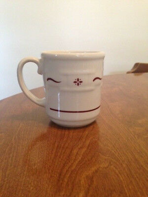 EUC Longaberger Woven Traditions Traditonal Red Coffee Mug Cup Made in the USA