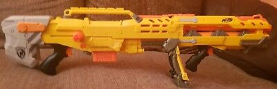 Nerf Long Shot CS-6 Blaster - Barrel Attachment and Magazine With Darts - Sniper