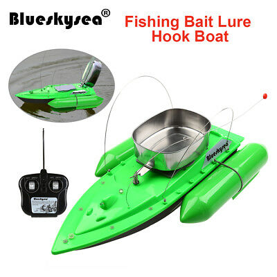 RC Wireless Fishing Lure Bait Boat 300M Remote Control for Finding Fish Green