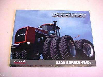 Case IH STEIGER 9300 Series Tractor Brochure, 44 Page Excellent Condition