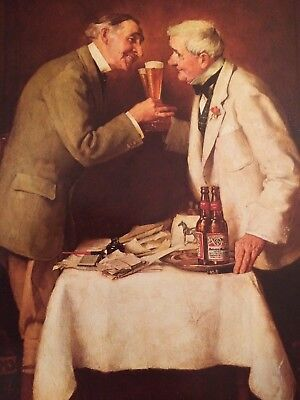 "Norman Rockwell Budweiser Print ""When Gentlemen Agree""  14.5"" x 11.25"""