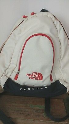 The North Face Pandora Backpack cream and brick red black small 4a238d6606550