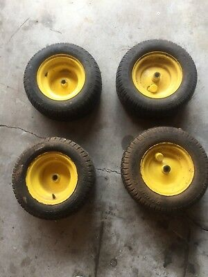John Deere GX85 Lawn Tractor Part : Rear Tires and Wheels. Four available.