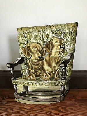 Vintage Piero Fornasetti Sculptural Dachshund Dog Umbrella Stand