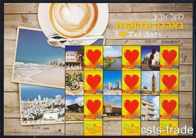 Israel 2013 I Love Tel Aviv Stamp Expo Sheet Limited Edition Jaffa Sea Mnh